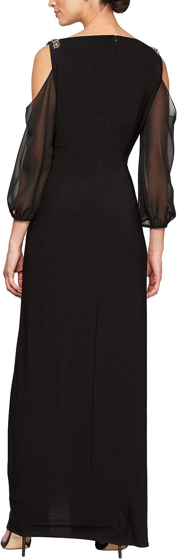 Alex Evenings Femme Robe Illusion Black