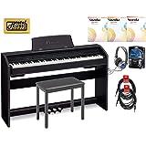 Casio Privia PX-760 88-Key Digital Piano Pro Bundle - Black