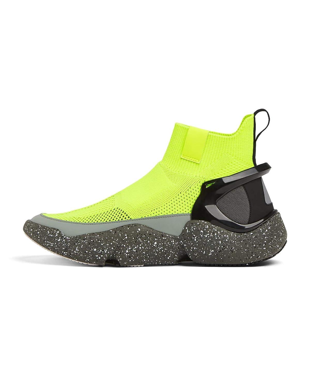buy online a55a4 92bde Zara Homme Baskets Montantes en Tissu élastique Fluo 2111 002  Amazon.fr   Chaussures et Sacs