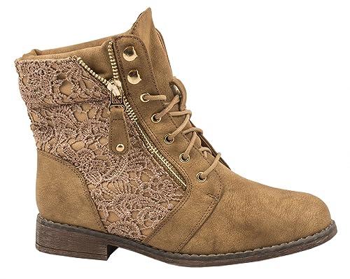 Botines para mujer Elara | Botas con punta | Cremallera con tacón ancho: Amazon.es: Zapatos y complementos