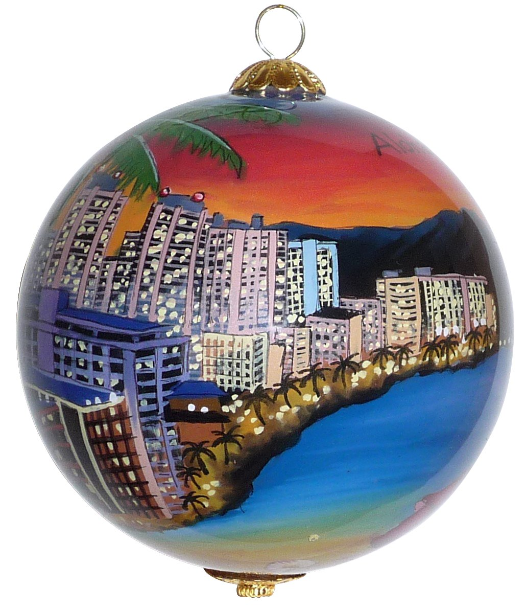 Maui By Design Collectible Waikiki Christmas Ornament Oahu