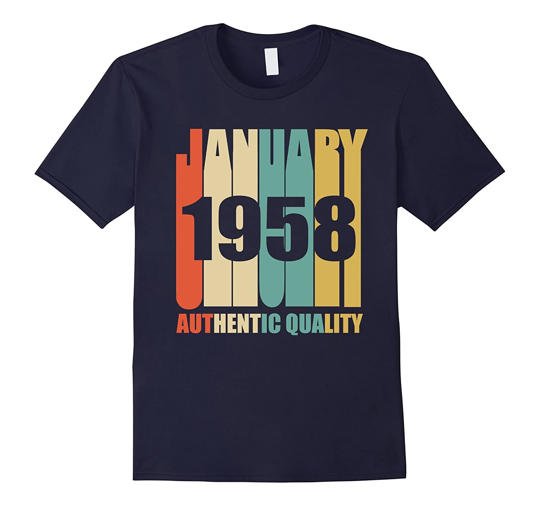 Retro January 1958 T-Shirt Vintage 60th Birthday Gift Shirt-RT