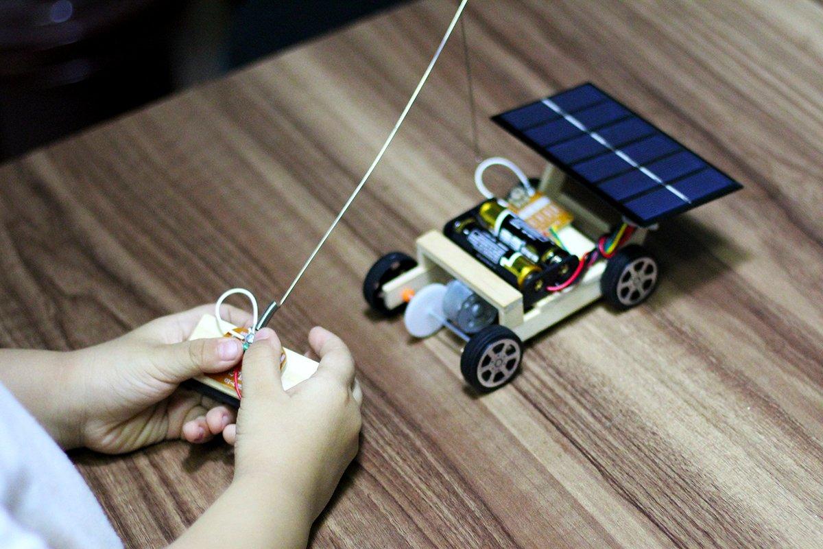 Remote Control Car Robotics Wooden Solar Engineering Circuit Science Stem