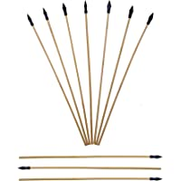 UTeCiA Safety Archery Target Arrows - 18 Inch Premium Wooden Arrows for Kids and Beginners | Soft & Flexible Rubber Tips | Well Balanced & Durable | Pack of 10