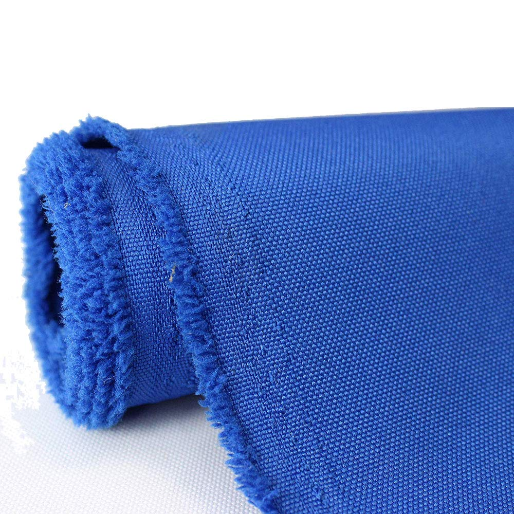 Waterproof Canvas Fabric Outdoor 600 Denier Indoor/Outdoor Fabric by The Yard PU Backing UV Protector Canvas Marine Awninig Fabric Royal Blue (10 Yards)
