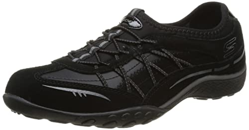 Australia Womens Skechers Breathe Easy Just Relax - Trainers - Black/Charcoal QY22244