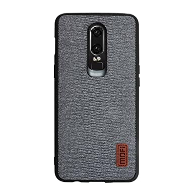 newest 4046e 5c952 MOFI莫凡 Oneplus 6 Case, Oneplus 6 Phone Case Shockproof [ Soft Silicone  Bumper ] [ Hard Back ] [ Full Body Protection ] Case for Oneplus 6 - Grey
