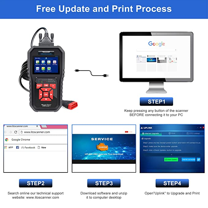 OBD2 Scanner, Seekone Professional Car Auto Diagnostic Code Reader
