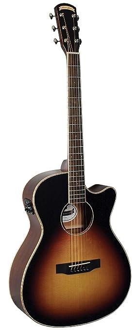 Morgan Monroe MGV-100E - Guitarra acústica eléctrica, Nashville Sunburst