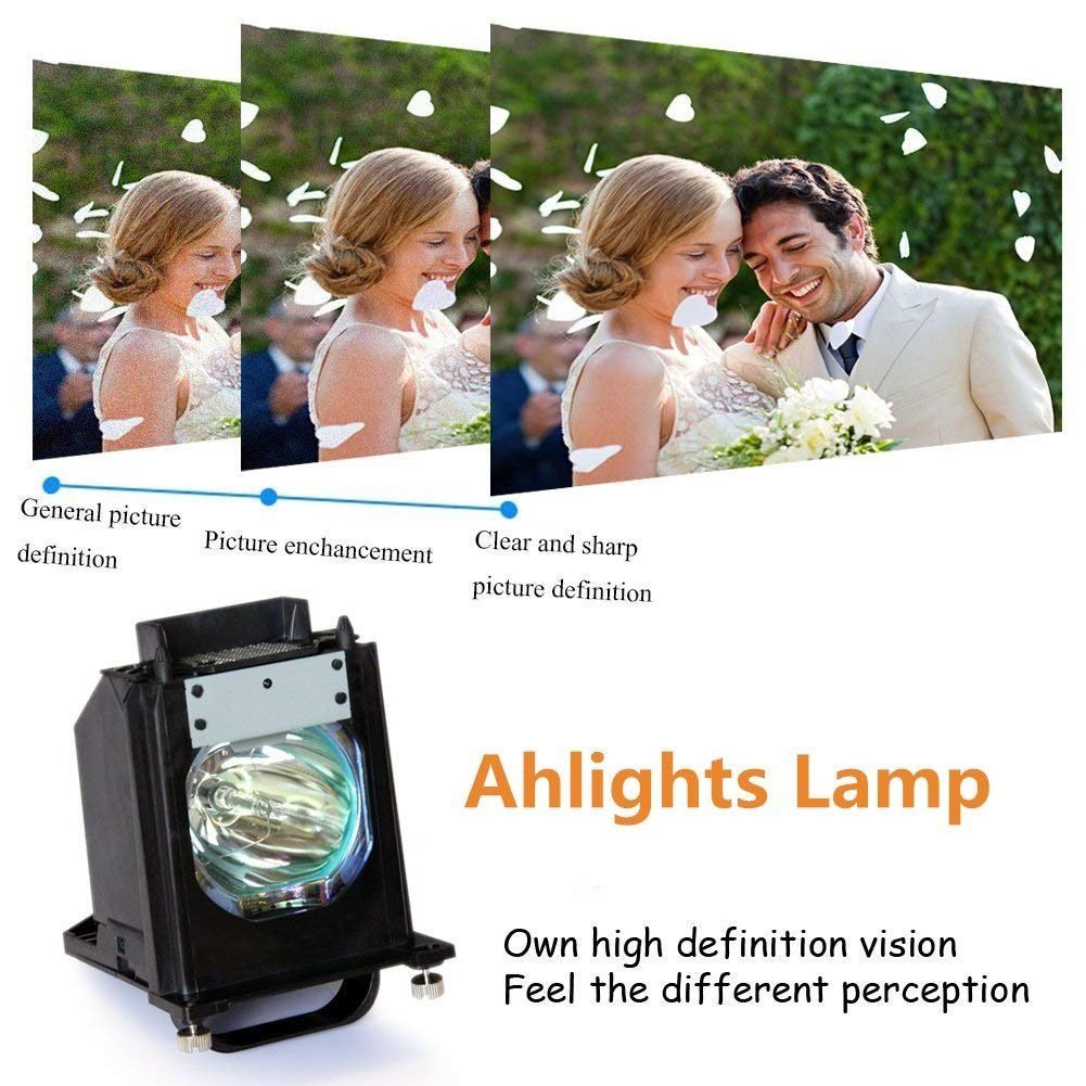 Ahlights 915P061010 915P061A10 DLP TV Bulb Replacement Lamp with Housing for Mitsubishi TVs