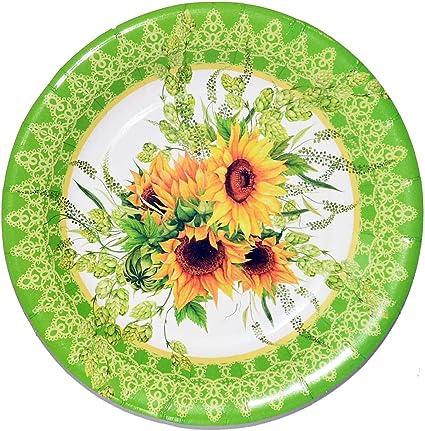 Amazon.com: Platos de fiesta girasol, juego de 30 girasoles ...