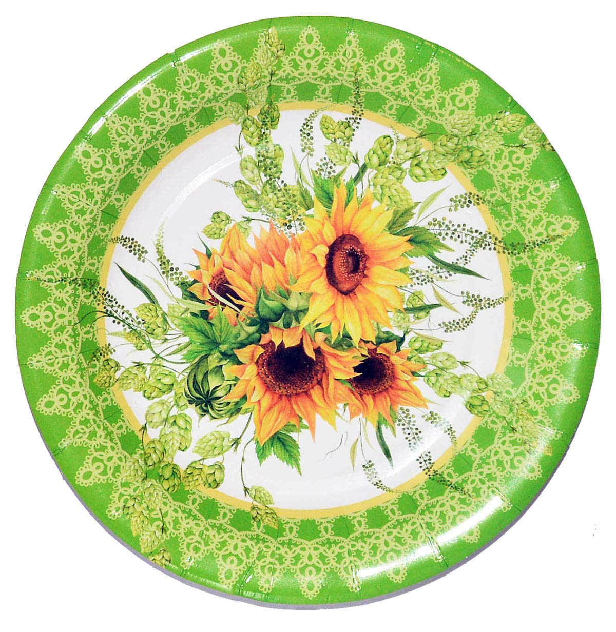40 Sunflower Paper Plates, Decorative Party Plates Sunflower Party Decoration for Sunflower Wedding Birthday by ArtPaperWonders