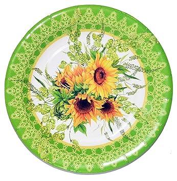 Amazon Com 40 Sunflower Paper Plates Decorative Party Plates