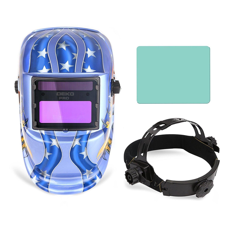 Campana de oscurecimiento automática del casco de la soldadura accionada solar con la gama ajustable del tono 4/9-13 para la máscara del soldador de arco de ...