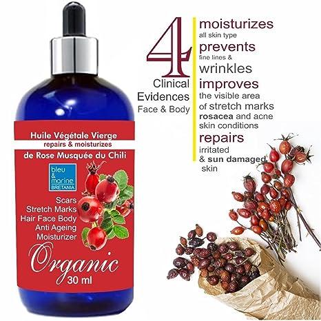 Aceite de Rosa Mosqueta Rejuvenecedor ECOLÓGICO 30 ml○ Reduce las líneas finas y arrugas ○