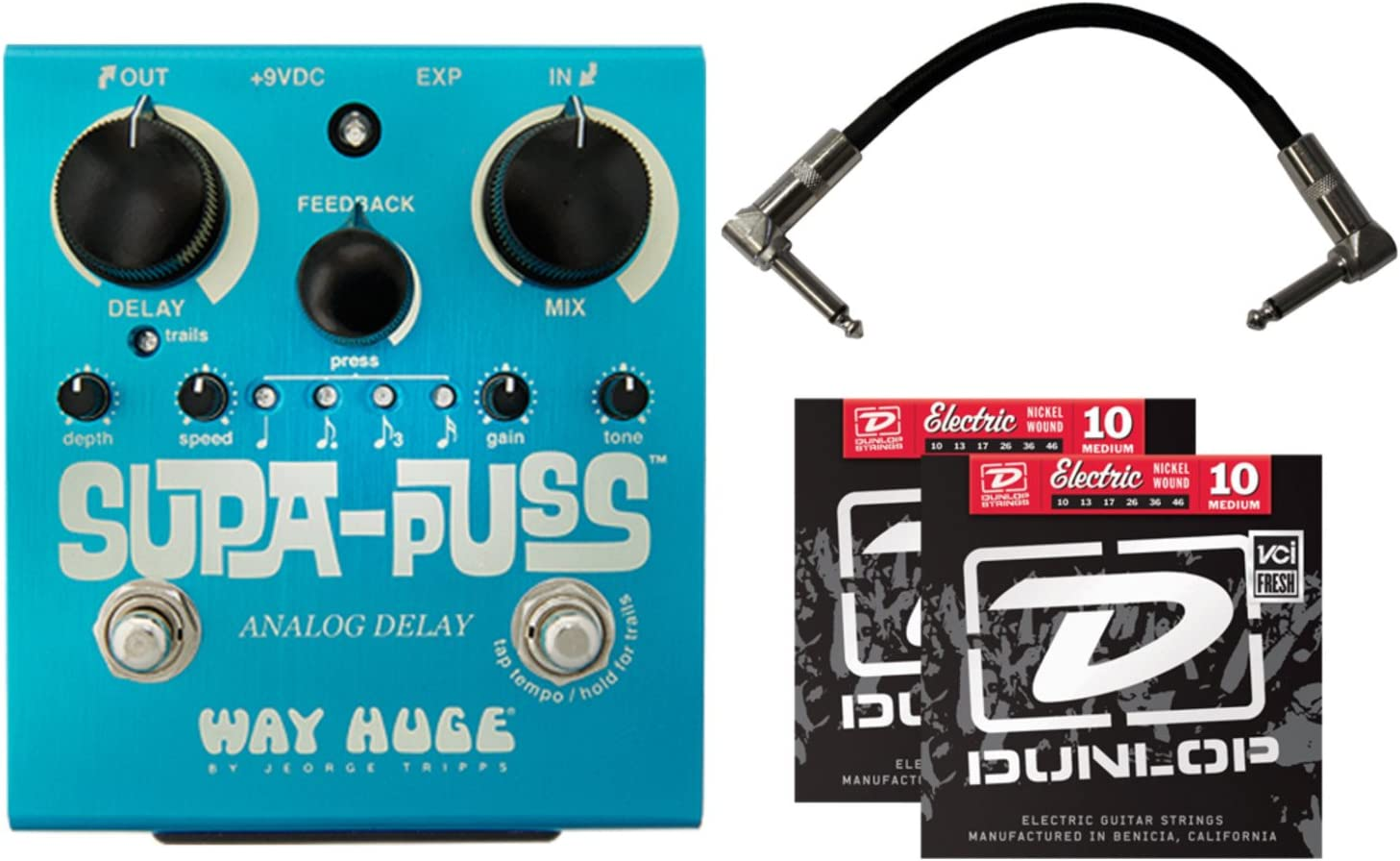 Dunlop Way Huge WHE707 Supa-Puss Analog Delay Guitar Effects Pedal