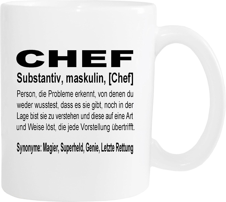 Mister Merchandise Kaffeebecher Tasse Chef Definition Geschenk Gag ...