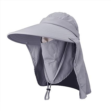 5855c8460f9182 LC-dolida Fishing Hat UV Protection Sun Hats 360° UPF 50+ Women Hiking