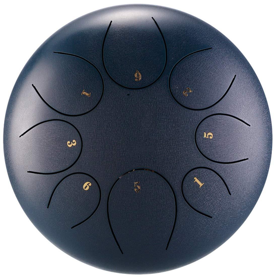 CCDYLQ Tambour à Tambour en Acier Professionnel avec tambour6 Pouces 8 Notes Tambour à métal Haut de Gamme dans Un Tambour élégant avec Tambour et Baguette,Blue