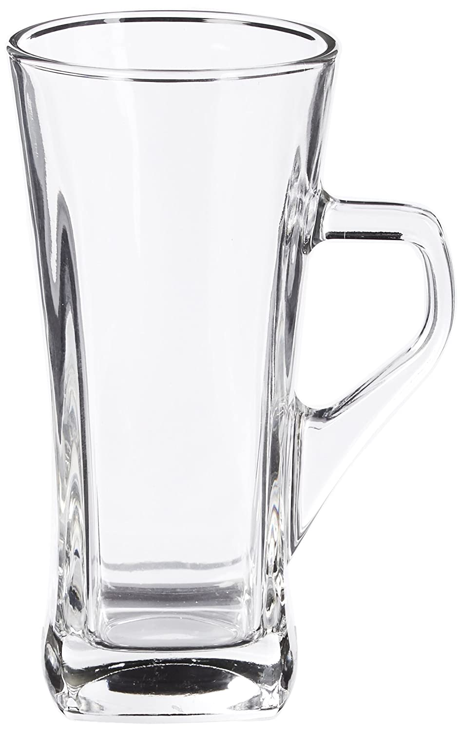 Style Setter Piazza Irish Coffee Square Mugs (Set of 4), Clear 229017-GB