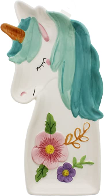 Amazon.com: boston warehouse Unicorn cuchara Rest, cerámica ...