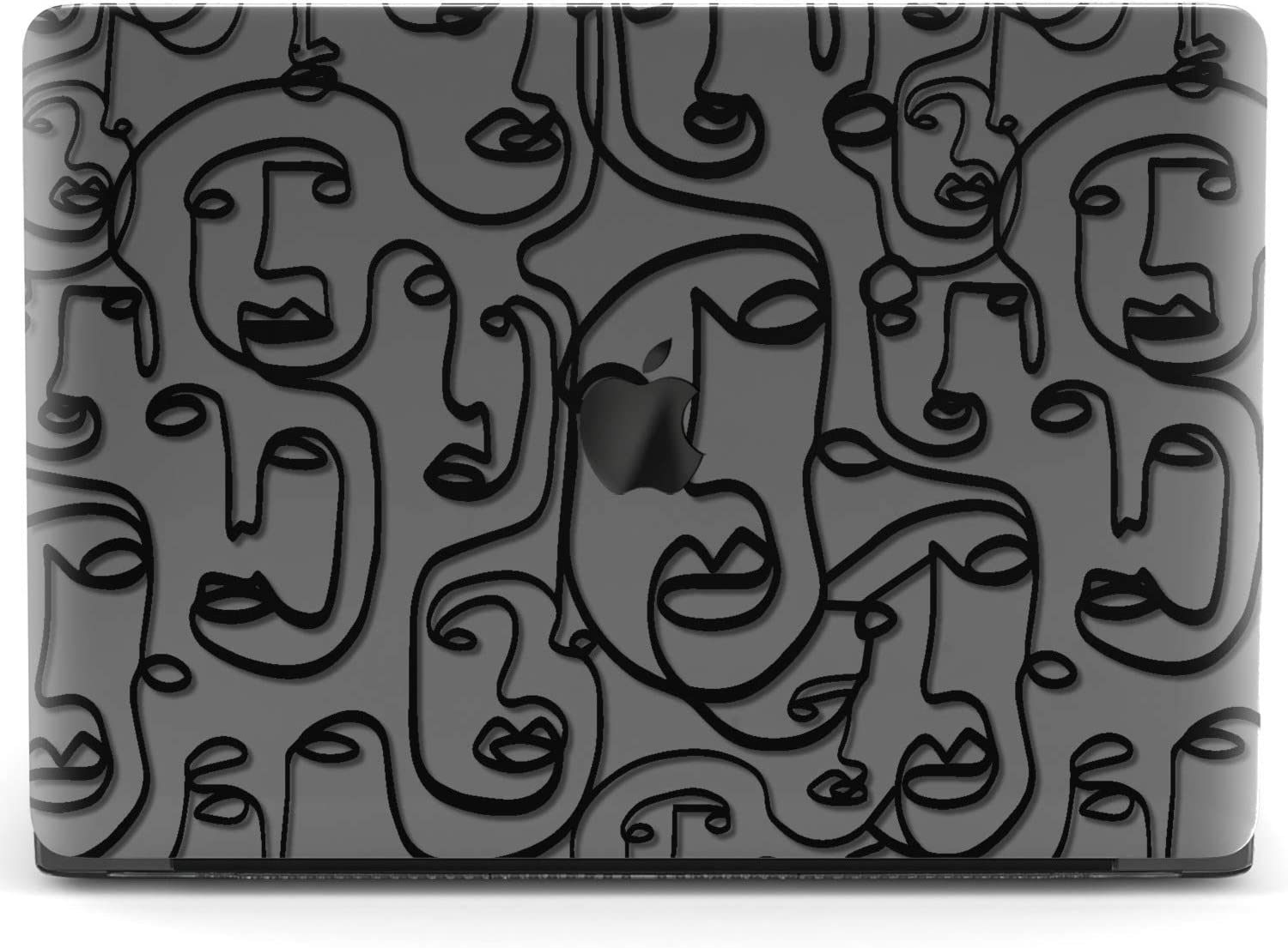 Mertak Hard Case for Apple MacBook Pro 16 Air 13 inch Mac 15 Retina 12 11 2020 2019 2018 2017 Print Girl Face Protective Abstract Touch Bar Cover Design Laptop Line Art Picasso Shell Clear Drawing