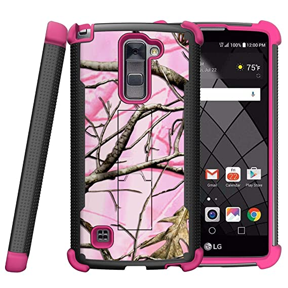 pretty nice 9a972 2ed22 MINITURTLE Case Compatible w/ LG Stylus 2 Plus Case, LG Stylo 2 Plus Case  [Shockwave Armor] Pink and Black Hybrid Shock Resistant Silicone and Hard  ...