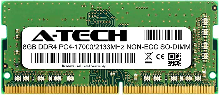 A-Tech 8GB Module for Lenovo IdeaPad 130-15AST Compatible DDR4 2133MHz PC4-17000 Non-ECC SODIMM 1.2V - Single Laptop & Notebook Memory RAM Stick (ATMS397709A34065X1)