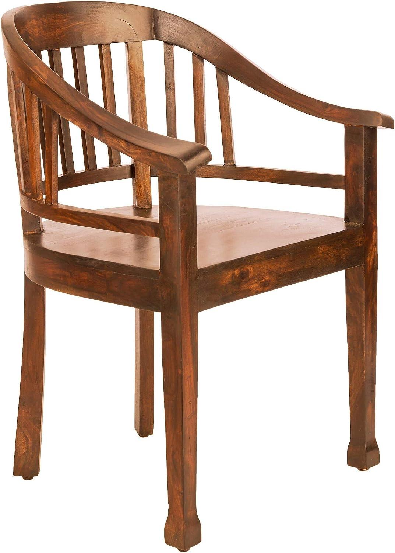 Butlers Hopkins Lehnstuhl hellbrauner Sessel aus Mangoholz