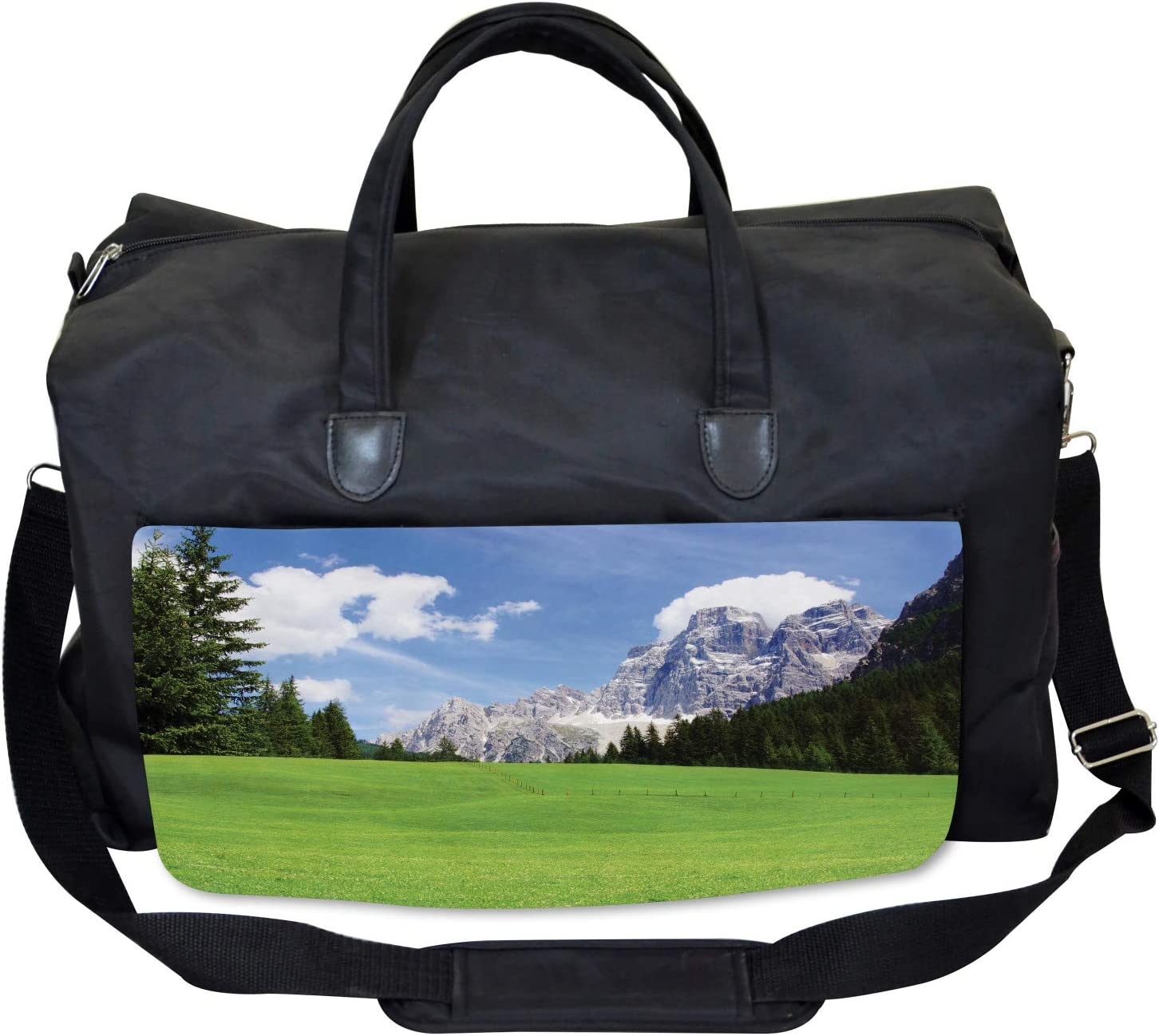 Rural Country Mountain Ambesonne Italy Gym Bag Large Weekender Carry-on