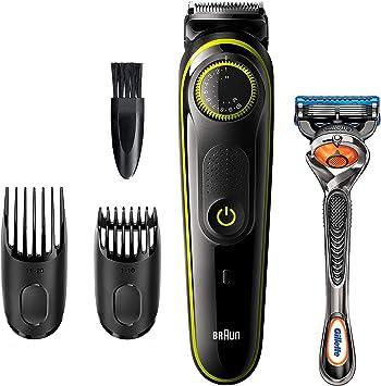 Braun Recortadora de Barba BT3241, Máquina Cortar Pelo, Recortadora de Barba y Cortapelos, para Hombre, Cuchillas Afiladas de Larga Duración, Eléctrico, Color Negro/Verde: Amazon.es: Salud y cuidado personal