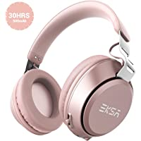 EKSA E100 Wireless Bluetooth Over Ear Headphones with Built-in Microphone (Pink)