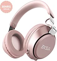 EKSA Over Ear Bluetooth Headphones-30 Hours Play Time Wireless Headset with Built-in Microphone,40mm Driver,Thumping Bass,Sup