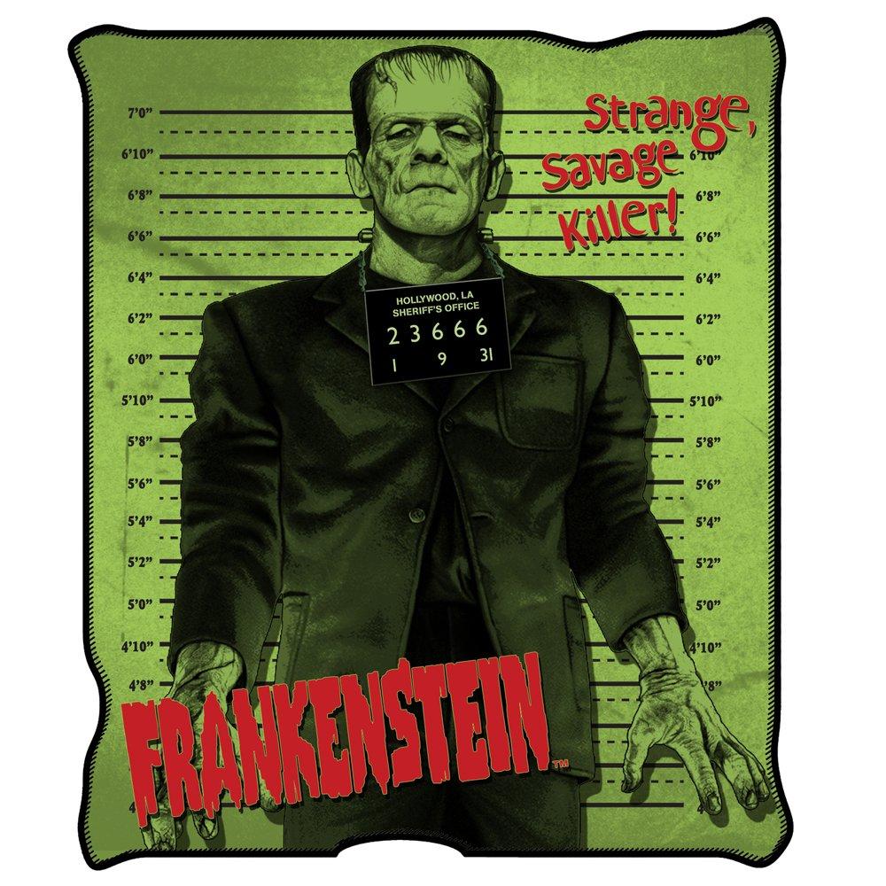 Universal Silver Buffalo UM0127 Frankenstein Raschel Throw, 50 x 60 inches