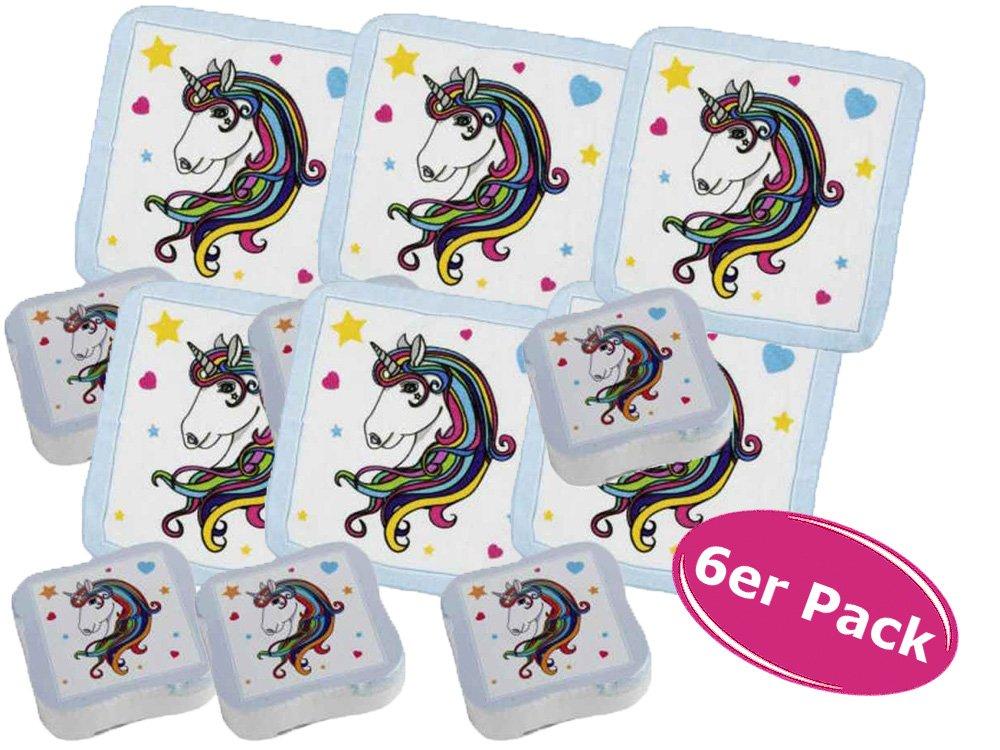 6x Magisches Handtuch Einhorn Luna - Kindergeschenk, Mädchengeschenk, Tombolapreis etc. Mädchengeschenk itsisa