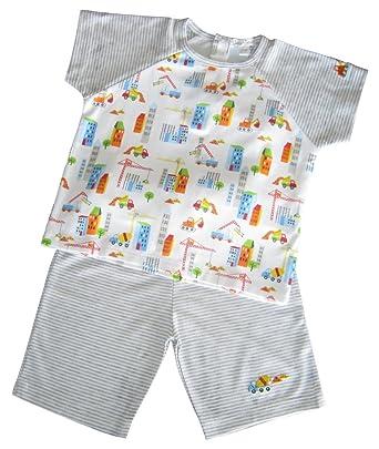 12e47df1a1b2 Amazon.com  Kissy Kissy Baby-Boys Infant Work Zone Stripe Bermuda ...