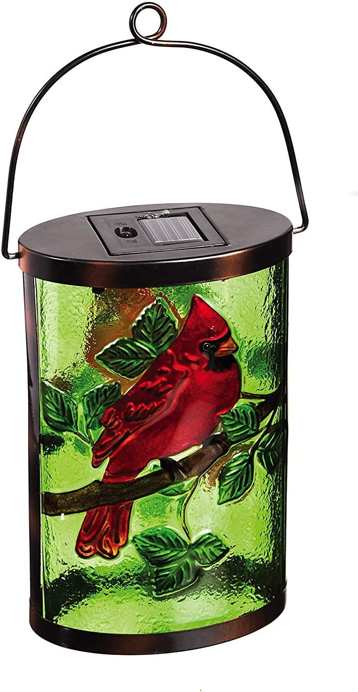 New Creative Cardinal Garden Friends Hanging Solar Lantern
