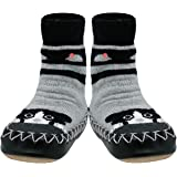 Konfetti Cat 'n Mouse Slipper Sock Swedish Moccasin