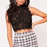 Womens T-Shirt, vermers Ladies Sleeveless Lace Crop Tops Blouse Summer Party Vest Top