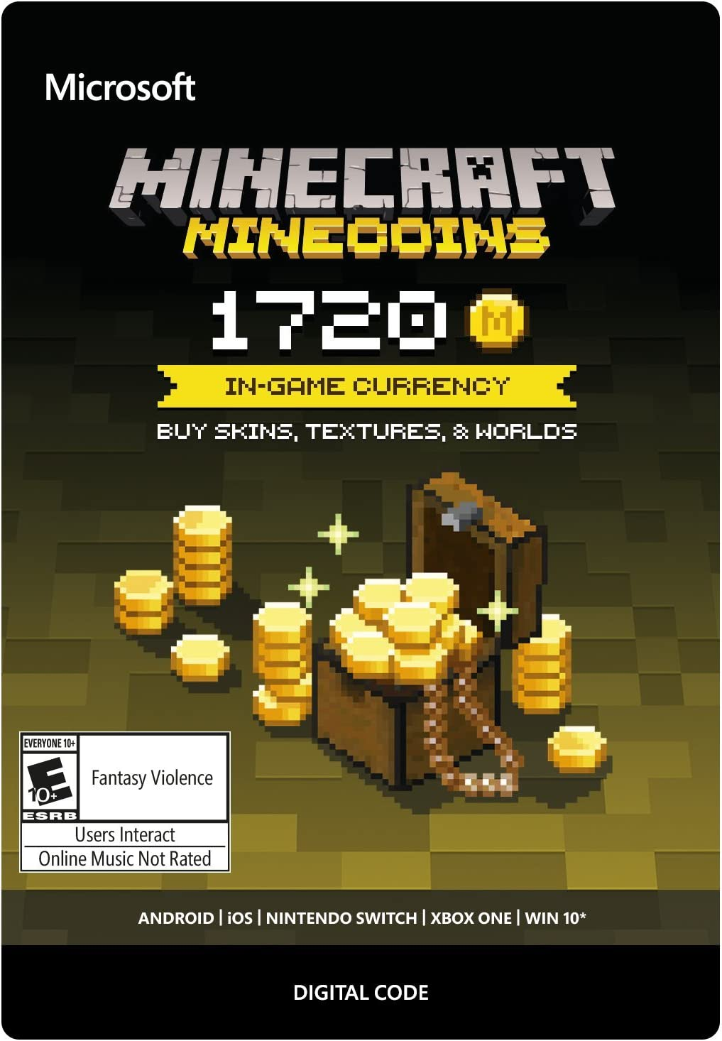 Amazon Com Minecraft Minecoins Pack 1720 Coins Xbox One