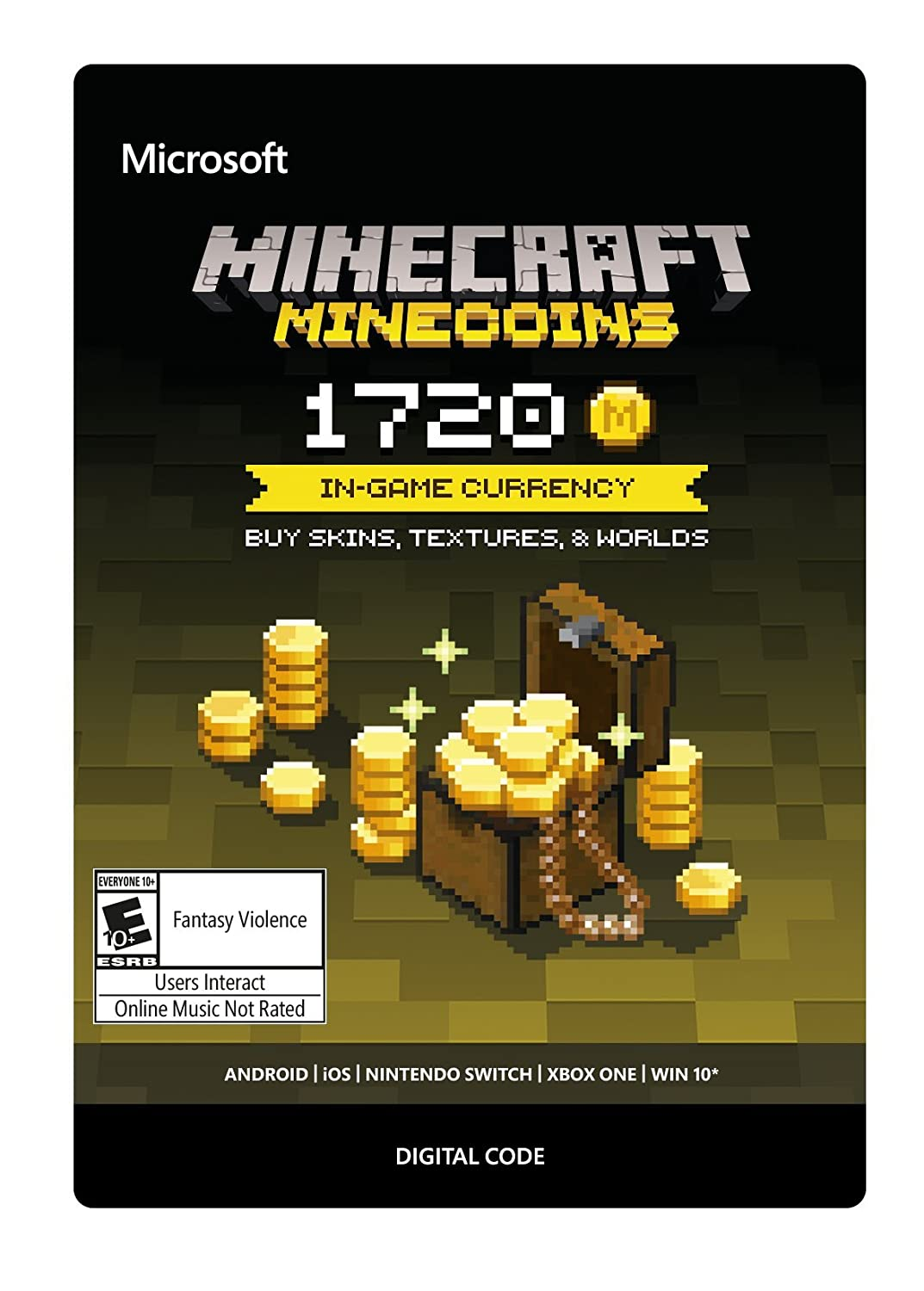 Amazon Com Minecraft Minecoins Pack 1720 Coins Xbox One Digital Code Video Games
