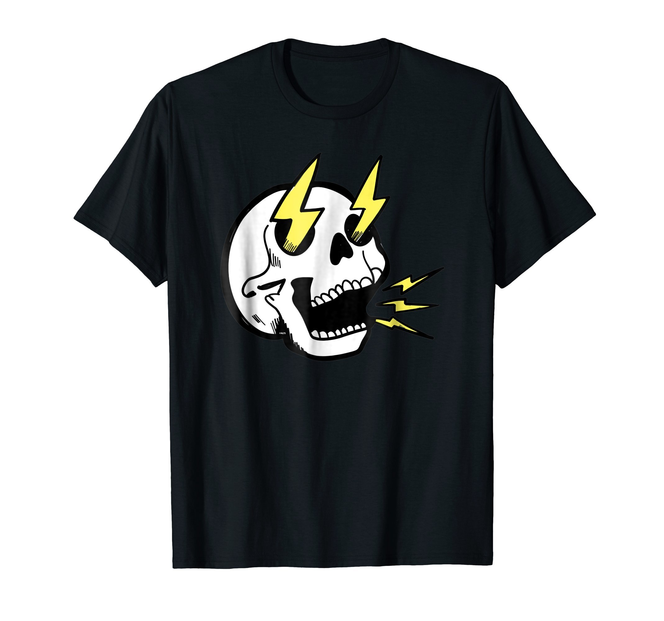 Electrifying-Skull-Halloween-costume-T-Shirt-Tee-Gift