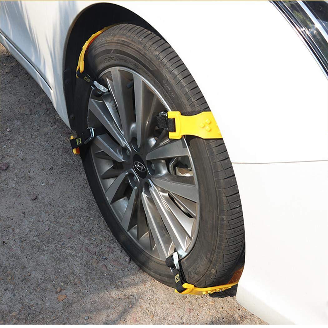 fnemo 1PCS Durable Antideslizante Coche Antideslizante Neumático Cinturón Neumático Cadenas de Nieve Accesorios para automóviles Asistencia en Carretera