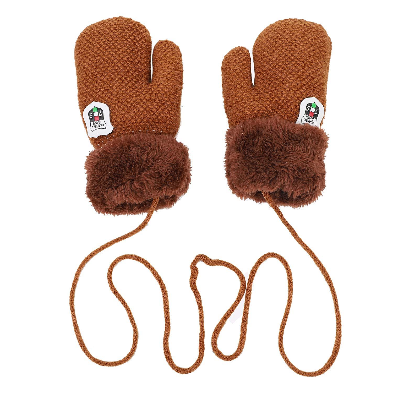 Baby Toddlers Knit Gloves Cold Weather Winter Thicken Warm Fleece Mittens Gloves ITODA
