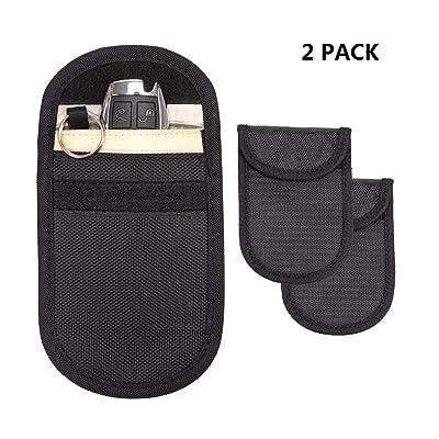 Travelkin Faraday bag for key fob ,RFID Car Key Fob Signal Blocking, Credit Card Signal Blocker Car Key Anti-Hacking Pouch Blockr(2 PACK): Car Electronics