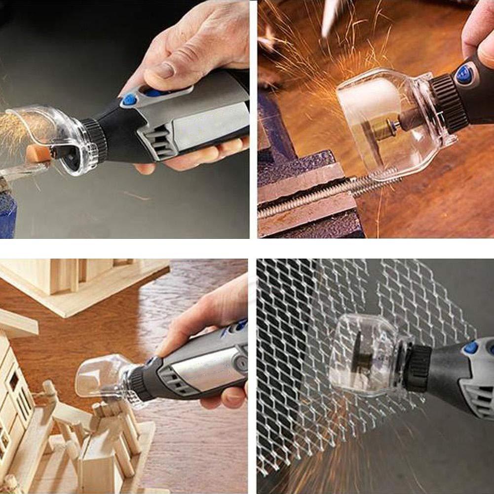 RENNICOCO Bouclier Transparent de Couverture protectrice de s/écurit/é Outil /électrique de Support de Foret pour la rectifieuse /électrique Moulin de Dremel