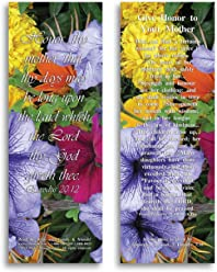 Bible Verse Cards, by eThought – Exodus 20:12 - Give Honor to Your Mother - Pack of 25 Bookmark Size Cards for reading, study, gifts and encouragement.