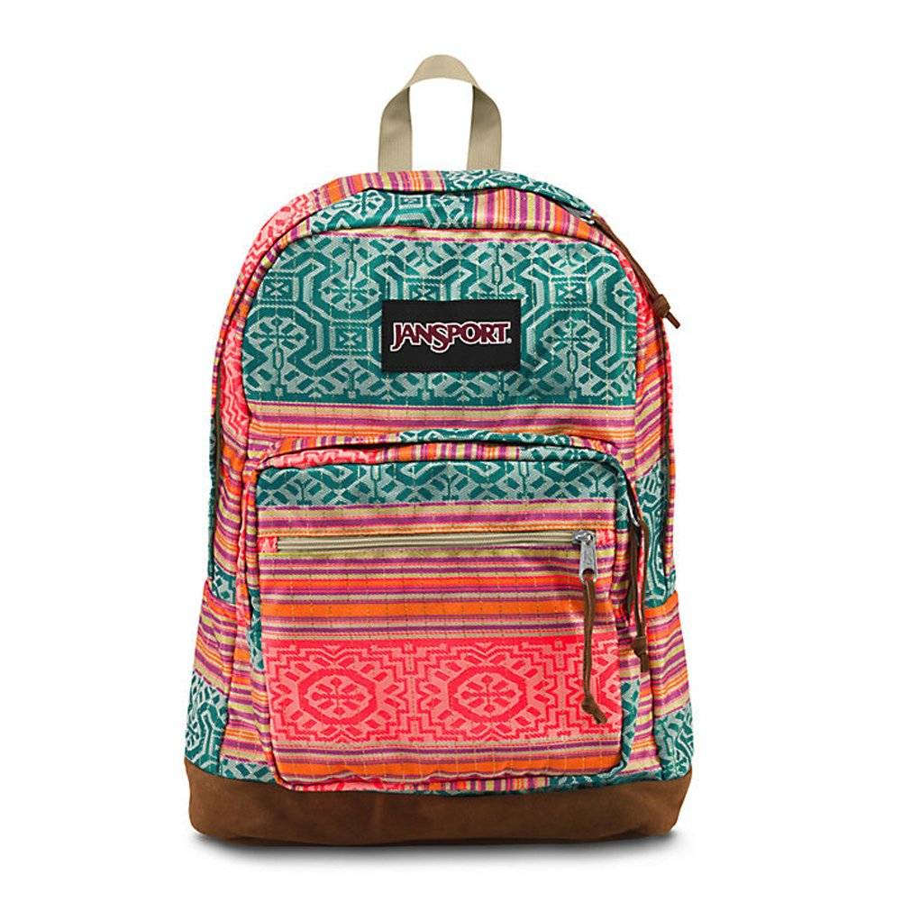 JanSport Unisex Right Pack World Fourescent Red Golden Summer One Size