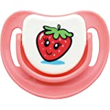 SILICONE PACIFIER STEP 1, STRAWBERRY