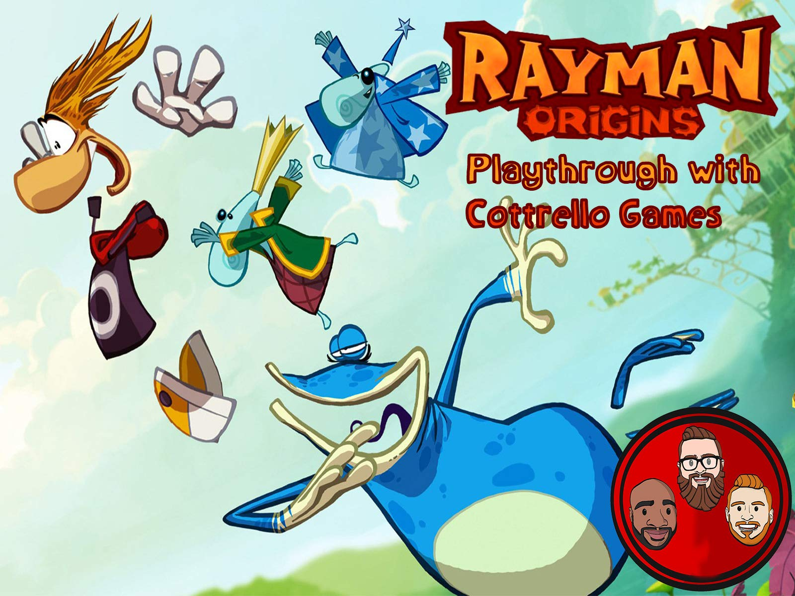 Rayman Origins Playthrough with Cottrello Games